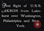 Image of dirigible United States Ship Akron Washington DC USA, 1931, second 1 stock footage video 65675036624