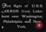 Image of dirigible United States Ship Akron Washington DC USA, 1931, second 3 stock footage video 65675036624