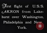 Image of dirigible United States Ship Akron Washington DC USA, 1931, second 8 stock footage video 65675036624