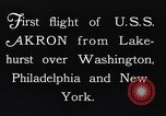 Image of dirigible United States Ship Akron Washington DC USA, 1931, second 9 stock footage video 65675036624