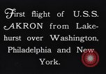 Image of dirigible United States Ship Akron Washington DC USA, 1931, second 10 stock footage video 65675036624
