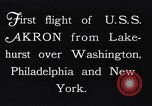 Image of dirigible United States Ship Akron Washington DC USA, 1931, second 11 stock footage video 65675036624