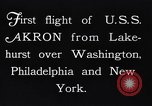 Image of dirigible United States Ship Akron Washington DC USA, 1931, second 12 stock footage video 65675036624