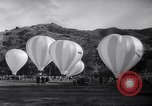 Image of Participants take off on hot air balloon race Catalina Island California USA, 1964, second 7 stock footage video 65675036642