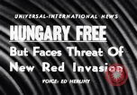 Image of Hungary attains freedom Budapest Hungary, 1956, second 4 stock footage video 65675036657