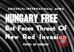 Image of Hungary attains freedom Budapest Hungary, 1956, second 5 stock footage video 65675036657