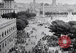 Image of student rally supporting Hungarian Revolution Rome Italy, 1956, second 7 stock footage video 65675036658