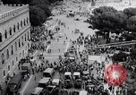 Image of student rally supporting Hungarian Revolution Rome Italy, 1956, second 9 stock footage video 65675036658