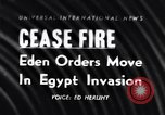 Image of Egypt-Israel war Middle East, 1956, second 1 stock footage video 65675036663
