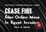 Image of Egypt-Israel war Middle East, 1956, second 2 stock footage video 65675036663