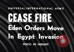Image of Egypt-Israel war Middle East, 1956, second 4 stock footage video 65675036663