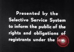 Image of Selective Service System United States USA, 1948, second 10 stock footage video 65675036669