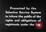 Image of Selective Service System United States USA, 1948, second 11 stock footage video 65675036669