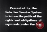 Image of Selective Service System United States USA, 1948, second 12 stock footage video 65675036669