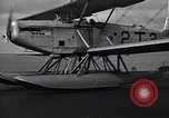 Image of T3M-2 floatplane on USS Saratoga CV-3 Pacific Ocean, 1929, second 9 stock footage video 65675036683