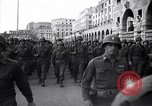 Image of Allied troops marching Genoa Italy, 1945, second 2 stock footage video 65675036691