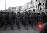 Image of Allied troops marching Genoa Italy, 1945, second 3 stock footage video 65675036691
