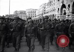 Image of Allied troops marching Genoa Italy, 1945, second 4 stock footage video 65675036691