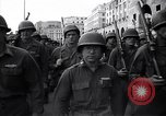 Image of Allied troops marching Genoa Italy, 1945, second 6 stock footage video 65675036691