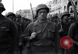 Image of Allied troops marching Genoa Italy, 1945, second 7 stock footage video 65675036691