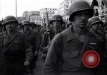 Image of Allied troops marching Genoa Italy, 1945, second 9 stock footage video 65675036691