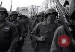 Image of Allied troops marching Genoa Italy, 1945, second 12 stock footage video 65675036691