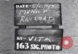 Image of damaged railroad station Munich Germany, 1945, second 6 stock footage video 65675036699