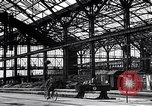 Image of damaged railroad station Munich Germany, 1945, second 12 stock footage video 65675036699