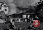 Image of fire at headquarters Florence Italy, 1945, second 1 stock footage video 65675036708