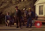 Image of Shift change at a coal mine  Pennsylvania USA, 1970, second 3 stock footage video 65675036733