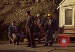 Image of Shift change at a coal mine  Pennsylvania USA, 1970, second 4 stock footage video 65675036733