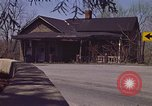 Image of old house on roadside Aliquippa Pennsylvania USA, 1970, second 4 stock footage video 65675036736