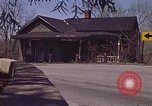 Image of old house on roadside Aliquippa Pennsylvania USA, 1970, second 6 stock footage video 65675036736
