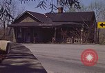 Image of old house on roadside Aliquippa Pennsylvania USA, 1970, second 8 stock footage video 65675036736