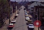Image of neighborhood near steel mill Aliquippa Pennsylvania USA, 1970, second 10 stock footage video 65675036743