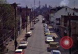 Image of neighborhood near steel mill Aliquippa Pennsylvania USA, 1970, second 11 stock footage video 65675036743