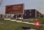 Image of billboard for Brunswick Apartments Gary Indiana USA, 1970, second 9 stock footage video 65675036749
