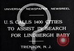 Image of wanted posters distributed for Charles A. Lindbergh Jr. Trenton New Jersey USA, 1932, second 2 stock footage video 65675036754