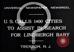 Image of wanted posters distributed for Charles A. Lindbergh Jr. Trenton New Jersey USA, 1932, second 4 stock footage video 65675036754