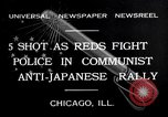 Image of demonstration against Japan's attack on China Chicago Illinois USA, 1932, second 1 stock footage video 65675036755