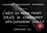 Image of demonstration against Japan's attack on China Chicago Illinois USA, 1932, second 3 stock footage video 65675036755
