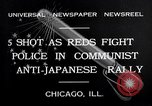Image of demonstration against Japan's attack on China Chicago Illinois USA, 1932, second 4 stock footage video 65675036755