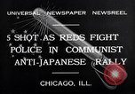 Image of demonstration against Japan's attack on China Chicago Illinois USA, 1932, second 5 stock footage video 65675036755