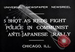 Image of demonstration against Japan's attack on China Chicago Illinois USA, 1932, second 6 stock footage video 65675036755