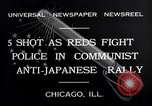 Image of demonstration against Japan's attack on China Chicago Illinois USA, 1932, second 7 stock footage video 65675036755