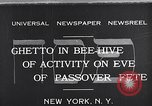 Image of Jewish festival New York United States USA, 1932, second 1 stock footage video 65675036756