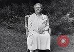 Image of Sara D Roosevelt interviewed on her 80th birthday Hyde Park New York USA, 1934, second 2 stock footage video 65675036761