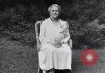 Image of Sara D Roosevelt interviewed on her 80th birthday Hyde Park New York USA, 1934, second 7 stock footage video 65675036761