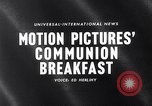 Image of traditional Communion Breakfast New York City USA, 1960, second 1 stock footage video 65675036768
