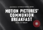 Image of traditional Communion Breakfast New York City USA, 1960, second 3 stock footage video 65675036768